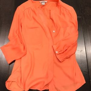 H&M 3/4 Sleeve Button Down Blouse